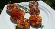 Sucettes d'oignon au barbecue