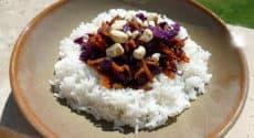 Riz et chou-rouge à l'asiatique