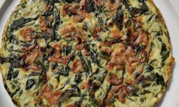 Omelette niçoise aux blettes